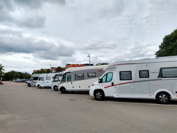 Parking for motorhomes in Växjö City