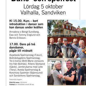 Dans-och spelfest på Valhalla