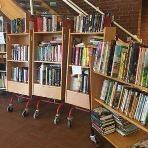 Bild på bokvagnar