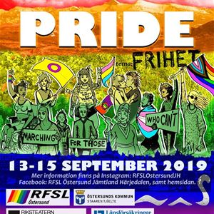 © Östersund Pride 2019 // RFSL Östersund Jämtland Härjedalen, Östersund PRIDE 2019