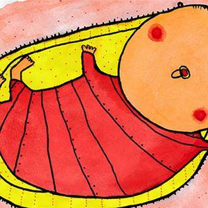 Jenny Funestad, Tecknad bild på en bebis