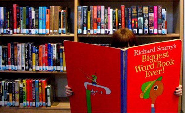 Ariel Grimm,  © Ariel Grimm, En bild på ett barn som läser en stor bok