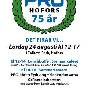 PRO Hofors 75 år