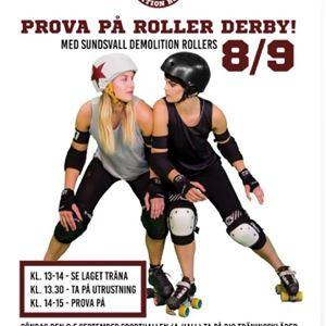 Prova på roller derby med Sundsvall Demolition Rollers