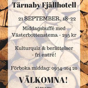 INSTÄLLT Berättarklubb på Tärnaby Fjällhotell
