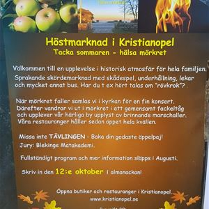 Autumn market in Kristianopel
