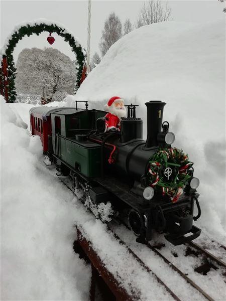 Julmarknad på Djurhedens Järnväg