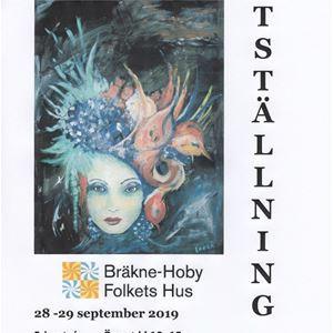 Konstutställning i Bräkne-Hoby Folkets hus