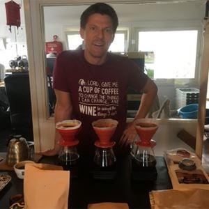 Kaffeprovning med Henrik Arvidsson på Oscar & co stadsdeli och vincafé