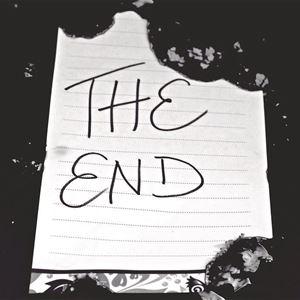 en svartvit bild på ett papper där det står the end.