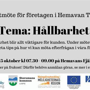 Frukostmöte för företagen i Hemavan Tärnaby