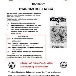 Fotbollsminnen i Rökå IF