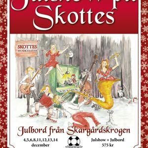 Julshow med julbord på Skottes Musikteater
