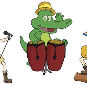 Tecknad bild på Arne Alligator