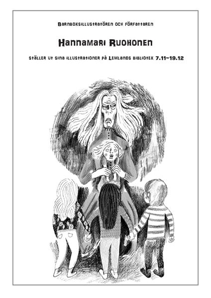 Konstutställning: Hannamari Ruohonens illustrationer i Lemlands bibliotek