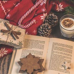 Bokfika med tema julläsning, från 9 år