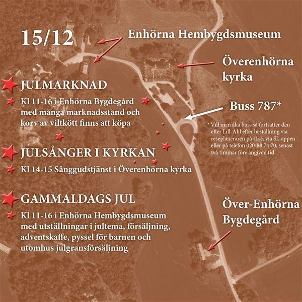 JULMARKNAD, SÅNGGUDSTJÄNST och GAMMALDAGS JUL