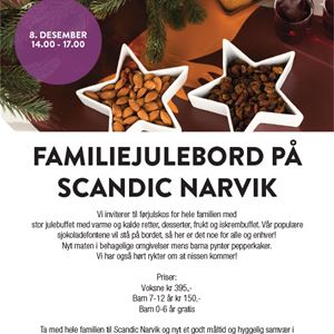 Family Christmas table at Scandic Narvik