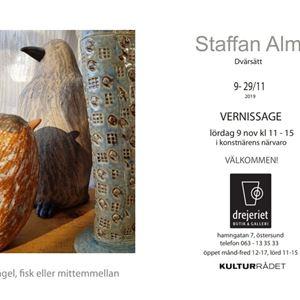© Copy: http://www.drejeriet-keramik.se/index.php/galleri/kommande-utstaellningar, Utställning- Fågel, fisk eller mittemellan av Staffan Alm
