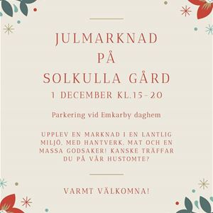 Christmas Market at Solkulla Gård in Finström