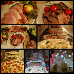 Christmas smorgasbord at Lufta Restaurant