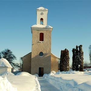 SSkattunge kyrka, vinter.