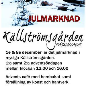 Julmarknad på Källströmsgården