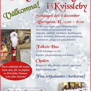 Skyltsöndag i Kvissleby (julskyltning)