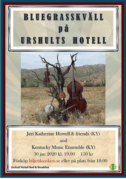 Konsert: Bluegrasskväll på Urshults hotell
