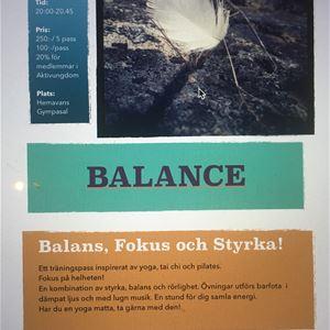 Balans, Fokus och Styrka i Hemavans gympasal