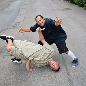 Breakdance med B-boy Jay och B-boy Wilpower