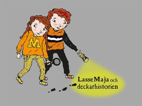 Illustration: Helena Willis, LasseMaja och deckarhistorien
