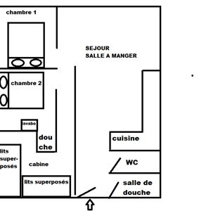 SERAC A5 / APPARTEMENT 3 PIECES + CABINE 6 PERSONNES - CI