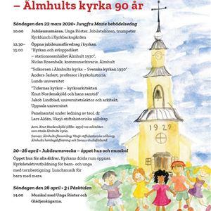 Jubileumsföredag i Älmhults kyrka