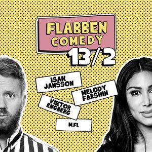 Flabben Comedy Club med Isak Jansson, Melody Farshin, Viktor Engberg mfl