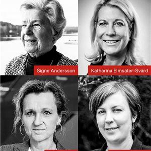Samtal på Estrad: Signe Andersson, Katharina Elmsäter-Svärd, Boel Godner och Hanna Klingborg