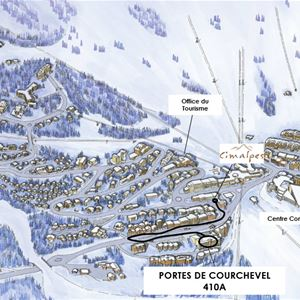 3 rooms 5 people / PORTE DE COURCHEVEL 410 A (mountain of charm) / Tranquillity Booking