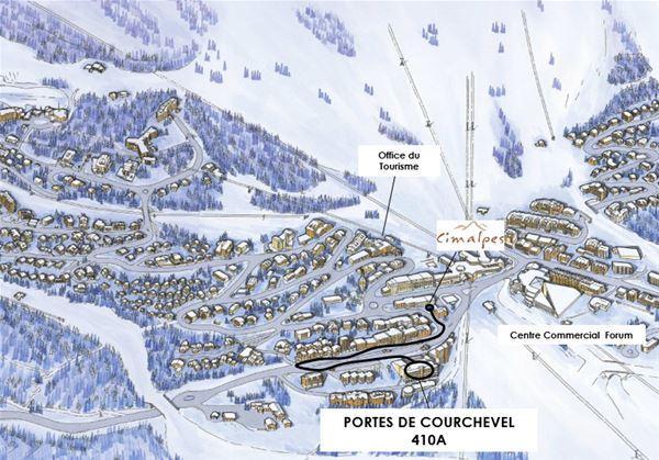 3 pièces 5 personnes / PORTE DE COURCHEVEL 410 A (montagne de charme)