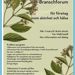 Branschforum för företag  inom skönhet och hälsa
