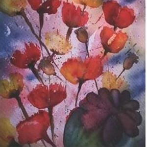 Art exhibition: Water colour paintings at Lemland's library