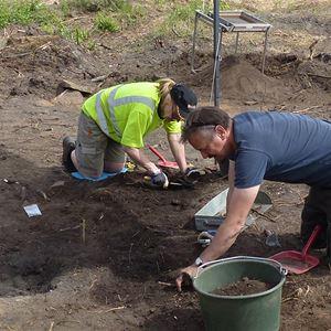 Arkeologer i arbete.