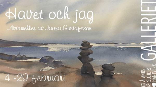 """Konstutställning: """"Havet och jag"""" - akvareller av Jaana Gustafsson i Galleriet"""