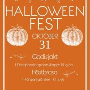 Halloween-afton med bonfire den 31 oktober på Färgaregården i Eringsboda