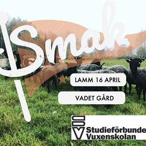 SMAK - Lammprovsmakning med Vadet Gård 16 april