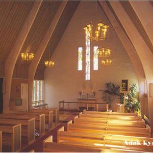 Friluftsgudstjänst Adak utanför kyrkan - Malå församling