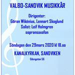 INSTÄLLT - Vårkonsert med Valbo-Sandvik  Musikkår