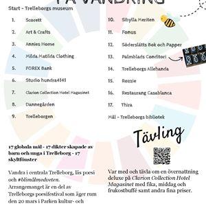 Poesivandring - Trelleborg city