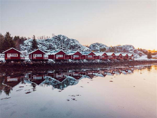 The waterfront cabins (rorbu) at Skårungen
