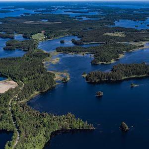På tur i Åsnens nationalpark - Trollberget