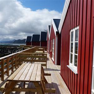 © Statles Rorbu- og Konferansesenter, Utsikt fra rorbuen mot Indre Mortsund havn